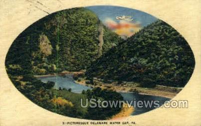pa_qq_4056 - Delaware Water Gap, Pennsylvania PA Postcard