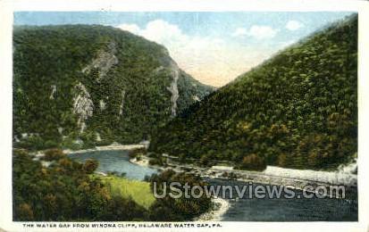 pa_qq_4088 - Delaware Water Gap, Pennsylvania PA Postcard