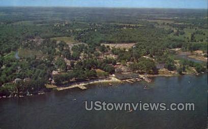 Aerial view Conneaut Lake Park - Pennsylvania PA Postcard