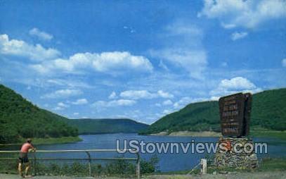 Big bend overlook - Warren, Pennsylvania PA Postcard