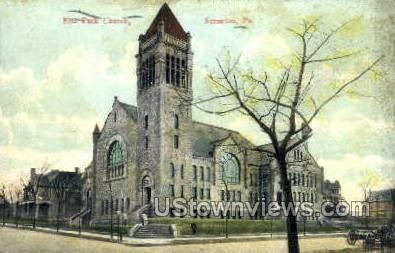 Elm park church - Scranton, Pennsylvania PA Postcard