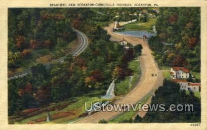 Chinchilla Highway  - Scranton, Pennsylvania PA Postcard