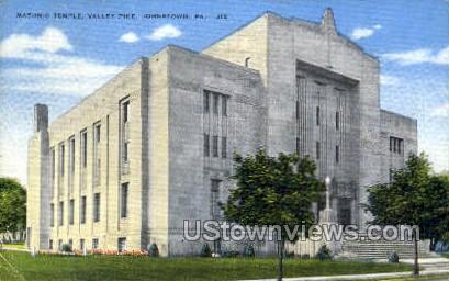Masonic temple  - Johnstown, Pennsylvania PA Postcard