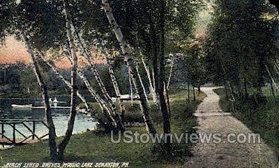 Moosic lake - Scranton, Pennsylvania PA Postcard