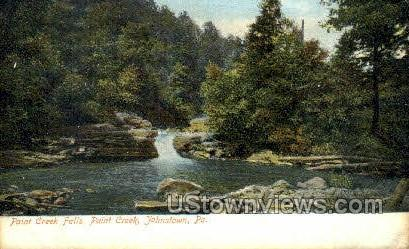 Paint creek falls  - Johnstown, Pennsylvania PA Postcard