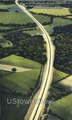 Straightway through Lebanon county  - Pennsylvania PA Postcard