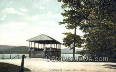 Pavilion lake - Scranton, Pennsylvania PA Postcard