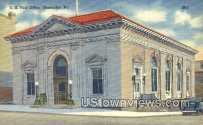 US post office  - Shamokin, Pennsylvania PA Postcard