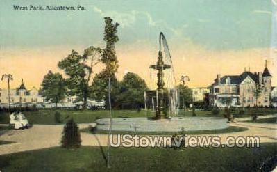 West park  - Allentown, Pennsylvania PA Postcard