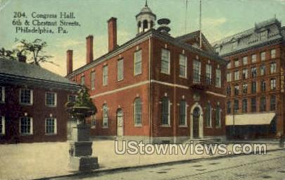 Congress hall - Philadelphia, Pennsylvania PA Postcard