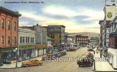 Independence street - Shamokin, Pennsylvania PA Postcard