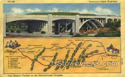 Americas super highway  - Scranton, Pennsylvania PA Postcard