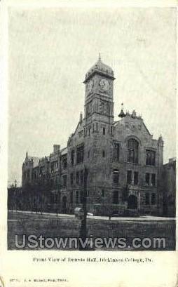 Front view of dennie hall  - Carlisle, Pennsylvania PA Postcard