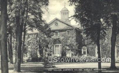 West college  - Carlisle, Pennsylvania PA Postcard