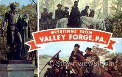 Greetings from  - Valley Forge, Pennsylvania PA Postcard