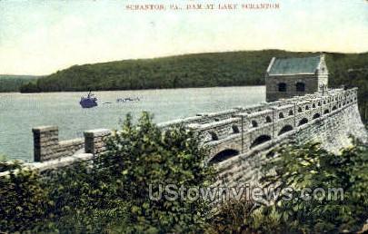 Dam  - Scranton, Pennsylvania PA Postcard