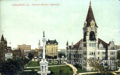 Court House  - Scranton, Pennsylvania PA Postcard