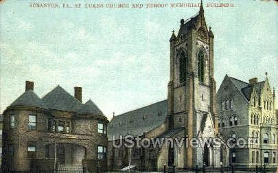 Lukes church - Scranton, Pennsylvania PA Postcard