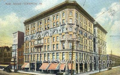 Hotel Jermyn - Scranton, Pennsylvania PA Postcard