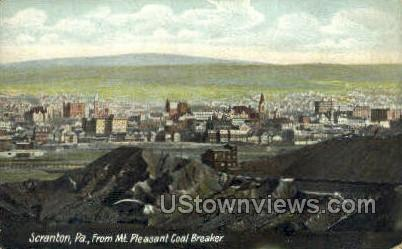 Mt pleasant breaker - Scranton, Pennsylvania PA Postcard