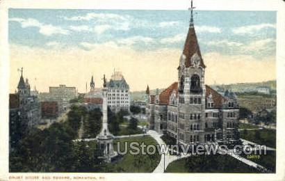 Court house and square  - Scranton, Pennsylvania PA Postcard