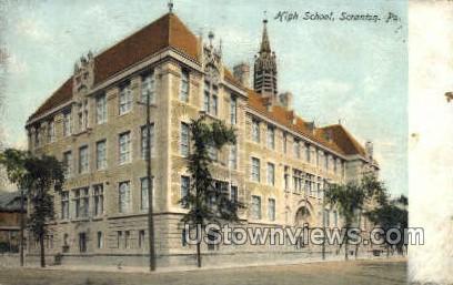 High school  - Scranton, Pennsylvania PA Postcard