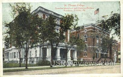 St Thomas college  - Scranton, Pennsylvania PA Postcard