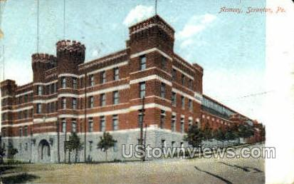 Armory  - Scranton, Pennsylvania PA Postcard