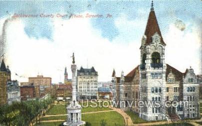 Lackawanna county court house - Scranton, Pennsylvania PA Postcard