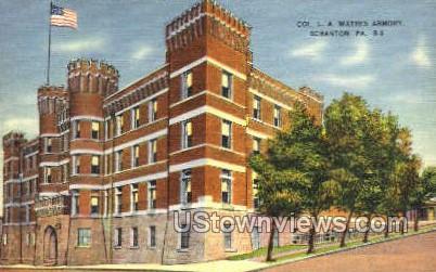 Col LA Waters armory  - Scranton, Pennsylvania PA Postcard