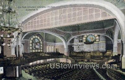 Elm park Methodist Episcopal church  - Scranton, Pennsylvania PA Postcard