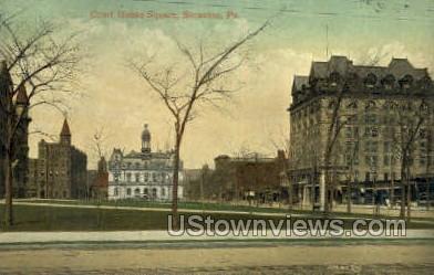 Court house square  - Scranton, Pennsylvania PA Postcard