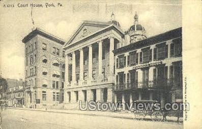 Court house  - York, Pennsylvania PA Postcard