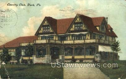 Country club  - York, Pennsylvania PA Postcard