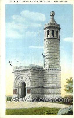 44th Ny infantry monument  - Gettysburg, Pennsylvania PA Postcard