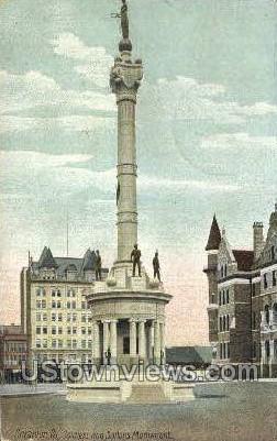 Soldiers and sailors monument - Scranton, Pennsylvania PA Postcard