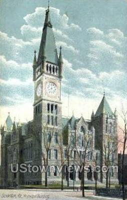 Municipal building - Scranton, Pennsylvania PA Postcard