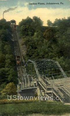Incline plane  - Johnstown, Pennsylvania PA Postcard