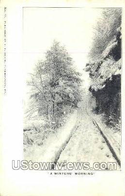 A winter morning  - Tunkhannock, Pennsylvania PA Postcard