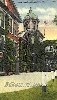 State Hospital  - Shamokin, Pennsylvania PA Postcard