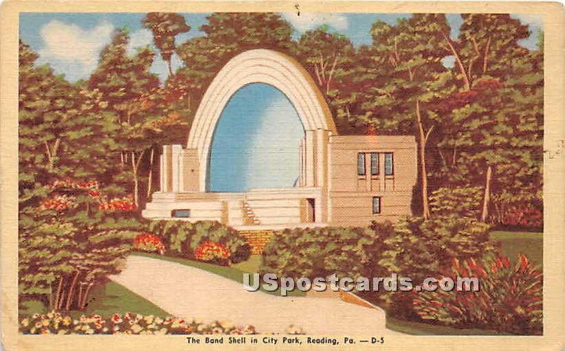 Band Shell, City Park - Reading, Pennsylvania PA Postcard