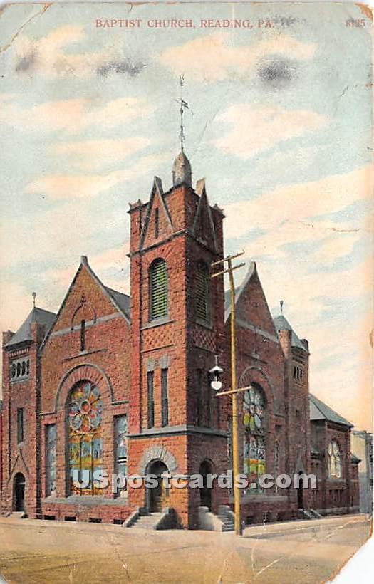 Baptist Church - Reading, Pennsylvania PA Postcard