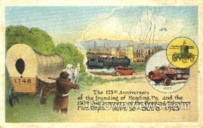 175th Anniversary, Fire Dept - Reading, Pennsylvania PA Postcard