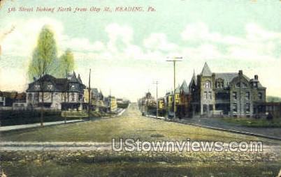 5th Street, Oley Street - Reading, Pennsylvania PA Postcard