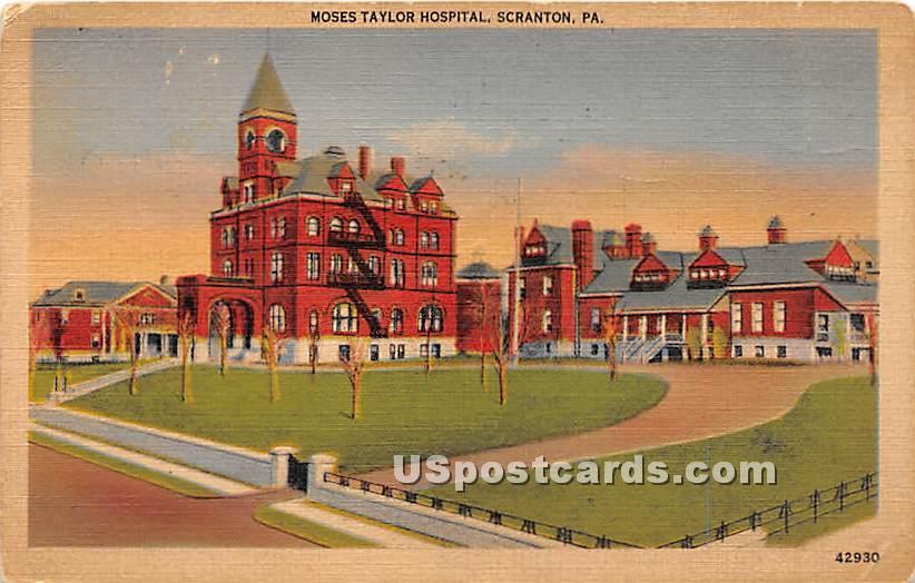 Moses Taylor Hospital - Scranton, Pennsylvania PA Postcard