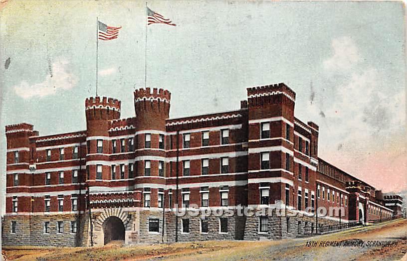 18th Regiment Armory - Scranton, Pennsylvania PA Postcard