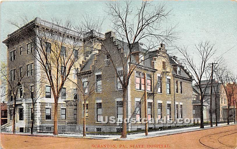 State Hospital - Scranton, Pennsylvania PA Postcard