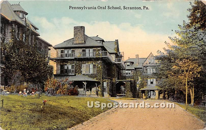 Pennsylvania Oral School - Scranton Postcard