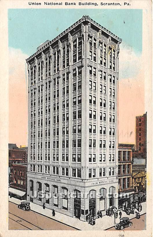 Union National Bank Building - Scranton, Pennsylvania PA Postcard