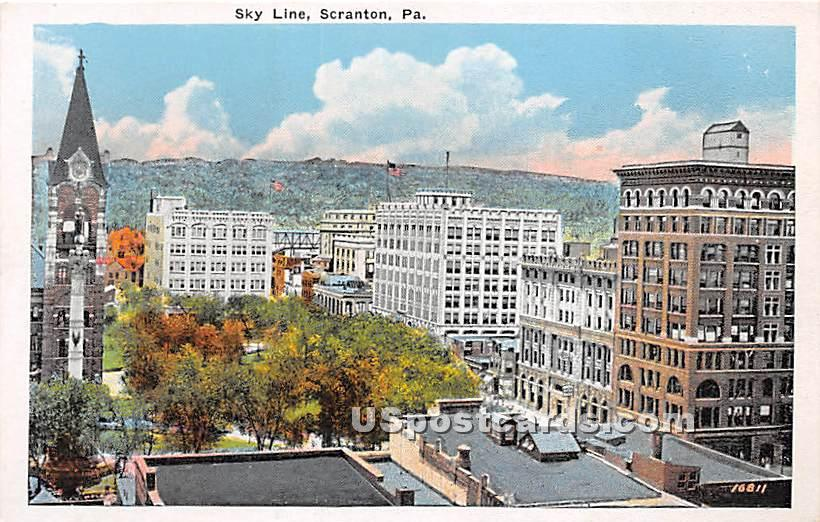 Sky Line - Scranton, Pennsylvania PA Postcard
